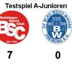 Ergebnis Testspiel Bahlinger SC