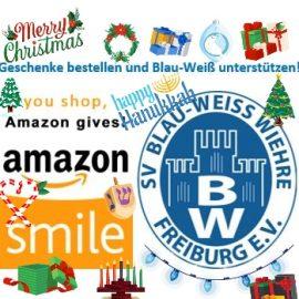 Amazon Smile: Geschenke bestellen und Blau-Weiß unterstützen🎁🎄🎋!