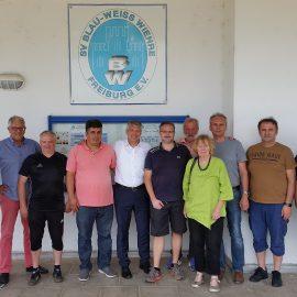 Der neue Finanz- und Sportbürgermeister Stefan Breiter besucht das Schönbergstadion